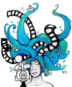 7 Festival Internacional de Cine en el Campo By Sofia Castellanos ©  #festival #magic #water #art #artist #illustration #drawing #finearts