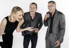 Charlize Theron, Michael Fassbender and George Clooney by Gavin Bond, Newsweek Oscar roundtable, 2012