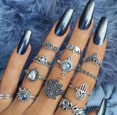 Christmas nail art inspiration | Nail art ideas for winter | Nail art | Nails | Nail designs