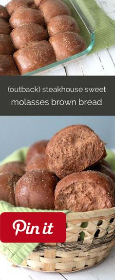 steakhouse sweet brown molasses bread recipe (just like outback ) amazing sweet honey molasses brown bread - just like they make at Outback Steakhouse! sexys