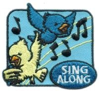 Girl Scout Sing Along Fun Patch. Great fun patch for Step 1 of the Brownie Girl Scout Way Badge. For more fun patches at low prices go to PatchFun.com
