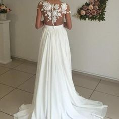 See Through Chiffon Wedding Dresses..