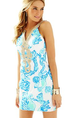ca4c16a9230 Lilly Pulitzer Emery Shift Dress in Resort White Barefoot Princess- Now  Only  79 Preppy Outfits