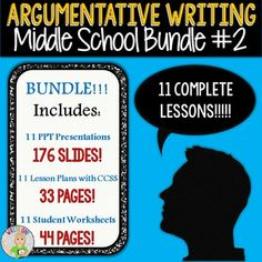 Argumentative essay lesson plans middle school