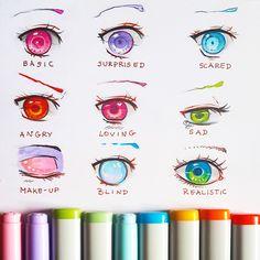 +Manga Eye Expressions+ by larienne.deviantart.com on @DeviantArt