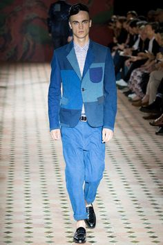 Menswear trend: Faded denim. Seen here at Junya Watanabe.