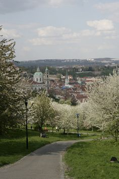 Petrin Hill- Well worth hiking the up for the views over the city. Alternatively there is a funicular that takes you to the top. Lola Grace, Most Beautiful Cities, Czech Republic, Places Ive Been, Travel Destinations, Places To Visit, Hiking, Wanderlust, Easter