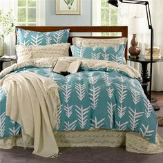 Duvet Set Queen Combed Cotton Bedding Sets Comforter/Duvet Covers Bed Sheet  Bedclothes Set 100