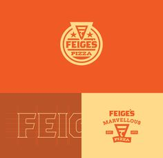 Feige's Pizza www.feigespizza.com #Branding #Logo #Typography #Icon #Colours