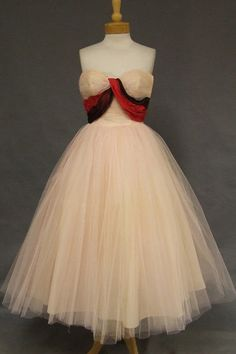 Vintage Formal Wear - Browse by Color - Pink Dresses For Teens, Day Dresses, Prom Dresses, 1950s Prom Dress, Retro Dress, Vintage Prom, Vintage 1950s Dresses, 1950s Outfits, Vintage Outfits
