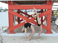 What Dancers do at the Beach!!! Best Friends!!!
