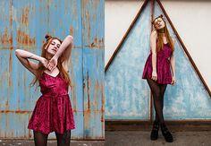 Get this look: http://lb.nu/look/8699707  More looks by Umbird Umbird: http://lb.nu/umbird  Items in this look:  Boots, Dress   #retro #romantic #street #streetstyle #redhead #beauty #beautiful #lookbook #tattoo