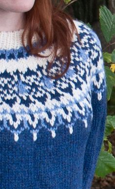 Ladies Luxury Hand-Knitted Icelandic Jersey, Odin by Scotweb Sweater Knitting Patterns, Hand Knitting, Cushion Covers, Iceland, Knitted Hats, Diy And Crafts, Creations, Wool, Luxury