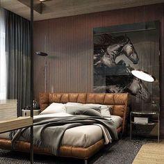 Designová moderní postel ANASTASIA hnědá kožená 200x200cm z pravé kůže