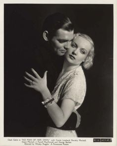 Clark Gable and Carole Lombard in a publicity still from A MAN OF HER OWN (1932)