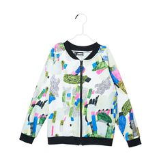 Colourful bomber with a zipper on the front. Organic Cotton, Kids Outfits, Zipper, Sweatshirts, Sweaters, Jackets, Color, Clothes, Random