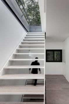 Stairs Weekend Retreat Respectful Towards Nature by AS/D Asociacion de Diseno