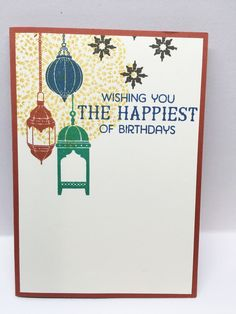 The Crafty Crafter: Moroccan Nights, Stampin UP