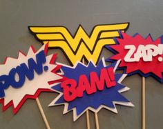 Etsy Wonder Woman Party | ... pc, Superhero party, Wonder Woman Party, Wonder Woman Birthday Party