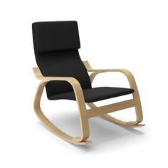Corliving™ Laq-605-c 'aquios Bentwood' Contemporary Rocking Chair-midnight Black