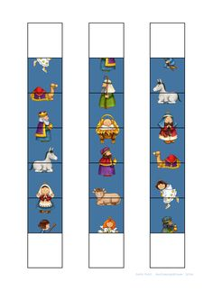 Tiles for the Silent Night domino game. Find the belonging board on Autismespektrum on Pinterest.
