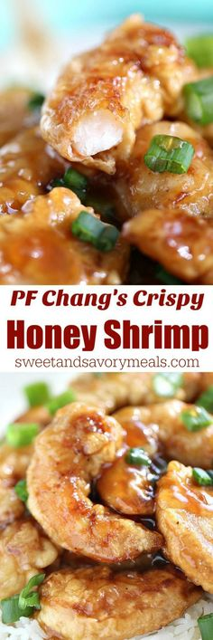 PF Chang's Crispy Honey Shrimp Copycat Recipe is super easy and delicious. Made in the comfort of your home in just 30 minutes. PF Chang's Crispy Honey Shrimp Copycat Recipe is super easy and delicious. Made in the comfort of your home in just 30 minutes. Fish Recipes, Seafood Recipes, Asian Recipes, Dinner Recipes, Cooking Recipes, Chinese Shrimp Recipes, Best Shrimp Recipes, Fondue Recipes, Chicken And Shrimp Recipes