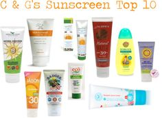 Top 10 Sunscreens of 2012/Paraben Free