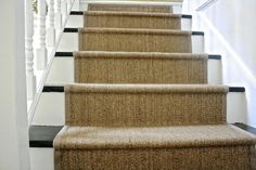 Ruthless stair runner carpet diy stairways strategies exploited coolest diy ikea jute rug stair runner what emily does - Savvy Ways About Things Can Teach Us Carpet Diy, Sisal Carpet, Plush Carpet, Best Carpet, Modern Carpet, Carpet Ideas, Hallway Carpet Runners, Cheap Carpet Runners, Carpet Stairs