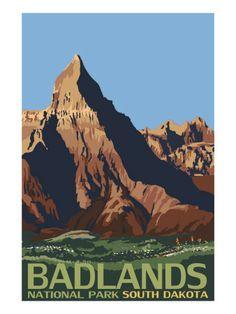Badlands National Park, South Dakota;  place is surreal!