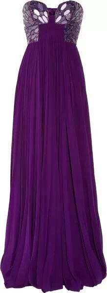 Fabulous Purple Gown ((I think Kim Zolciak wore this to her final RHOA reunion, while pregnant with KJ))