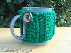 Crochet Mug Cozy in Pistachio Green  Mug Warmer  by HaniyyaBazaar, $5.00