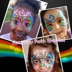 Spring rainbow butterflies
