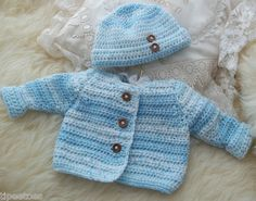 Hand Knitted  Crochet Baby or Reborn by PreciousNewbornKnits, £15.00