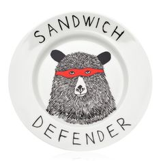 Sandwich Defender Plate   Jimbob Art   Wolf & Badger