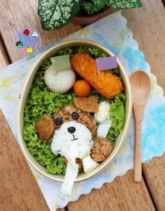 Playful puppy with toilet roll bento | Bento Days