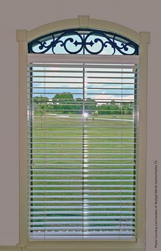 Faux Wrought Iron Eyebrow Transom Window Treatment | Flickr