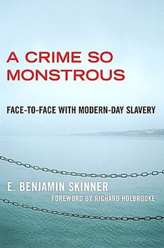 A book on human trafficking by Ben Skinner. I had the opportunity to interview him when he came to speak at the University of Nebraska. He travels to some of the most dangerous places in the world, specifically searching for traffickers and their victims.