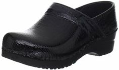 """Sanita Women's Original Professional Croco Closed Clog,Black Patent,40 EU/9.5-10 M US Sanita. $93.19. Approved by the APMA for its standards in arch support and orthopedic construction. Polyurethane rocker bottom construction is reinforced with a hard plastic frame for provide stability and durability. Manmade sole. Heel measures approximately 1.5"""". Platform measures approximately 0.75"""" . leather. Made in Poland. Anatomically shaped footbed engineered for arch support"""
