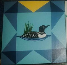 Barn Quilt Call of the Loon Traditional Favorite   Kat's ...
