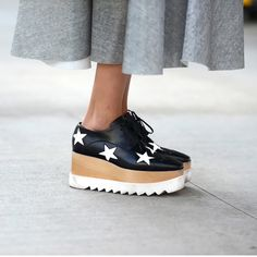 3a5225376c9ef Street style  stella mc cartney Platform Sneakers