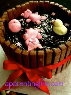 Pigs in mud cake, Pig in mud and Cake pictures on Pinterest