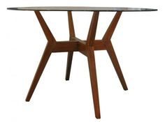 """Swisher 42"""" Round Glass Dining Table--Love this dining table"""