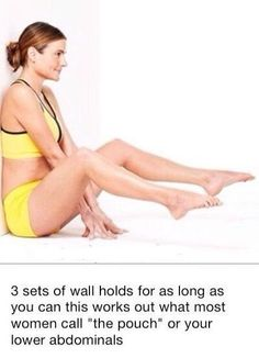 Wall holds for lower abs