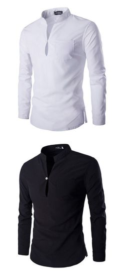 Men's Casual/Daily Simple Spring / Fall Shirt