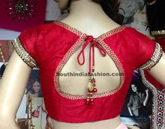 Ravishing Red Blouse ~ Celebrity Sarees, Designer Sarees, Bridal Sarees, Latest Blouse Designs 2014  Order for similar designer blouse at: https://www.etsy.com/shop/JiyaGotaZariLace?ref=hdr_shop_menu