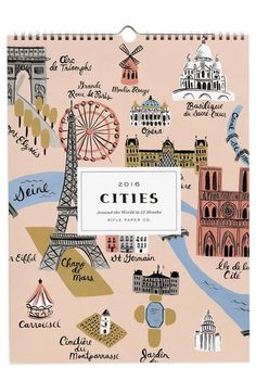 Visit the most beautiful cities every month with this wonderfully illustrated calendar by Rifle Paper Co.