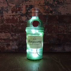 upcycled tanqueray gin bottle lamp by reupcycled | notonthehighstreet.com