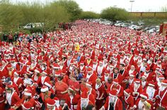 Huh? The Las Vegas Great Santa Run held in an effort to break the world record for the largest Santa Gathering and take it back from Derry.