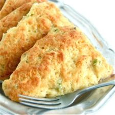 Cheddar Cheese and Scallion Scones: King Arthur Flour