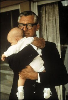 Cary Grant with daughter Jennifer, 1966
